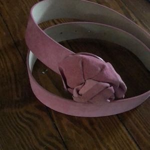 Pink suede Anthropologie belt